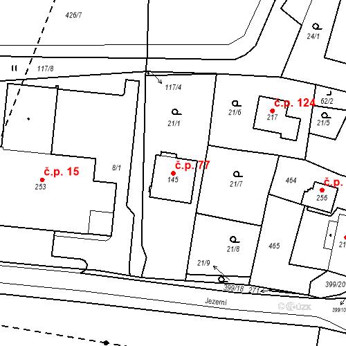 Katastrální mapa Stavební objekt Slatina 77, Františkovy Lázně