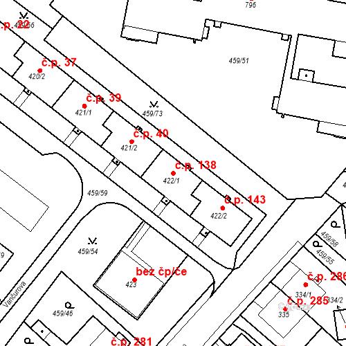 Katastrální mapa Stavební objekt Františkovy Lázně 138, Františkovy Lázně