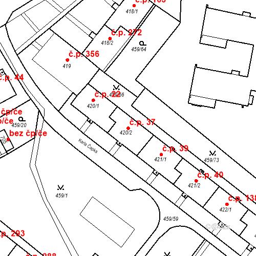 Katastrální mapa Stavební objekt Františkovy Lázně 37, Františkovy Lázně
