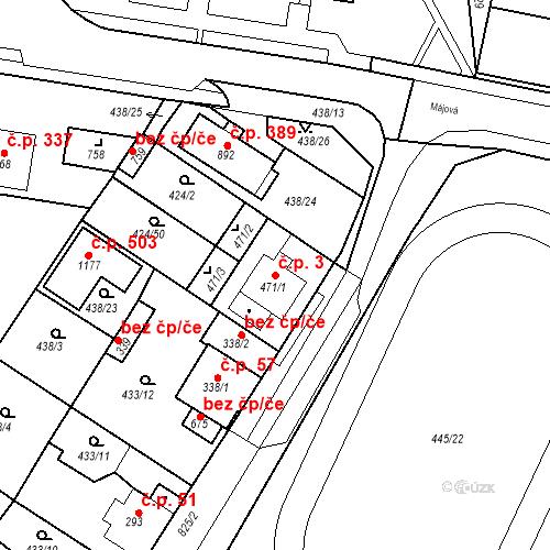Katastrální mapa Stavební objekt Dolní Lomany 3, Františkovy Lázně