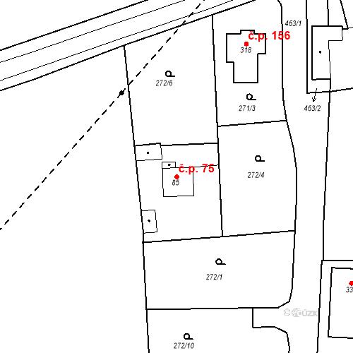 Katastrální mapa Stavební objekt Slatina 75, Františkovy Lázně