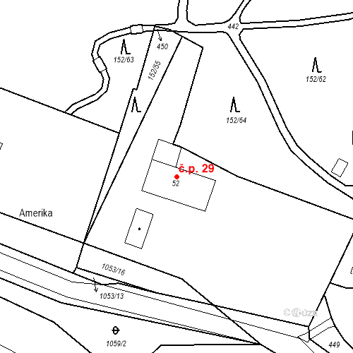 Katastrální mapa Stavební objekt Slatina 29, Františkovy Lázně