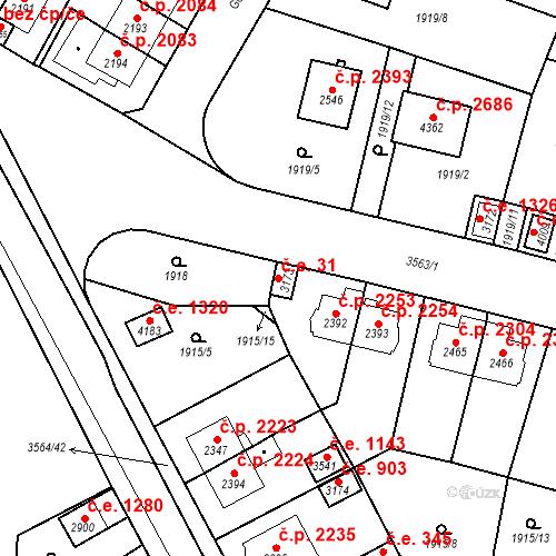 Katastrální mapa Stavební objekt Aš 31, Aš