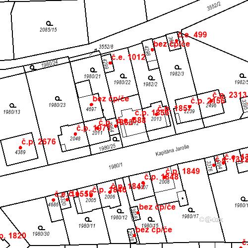 Katastrální mapa Stavební objekt Aš 1856, Aš