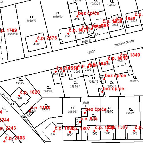 Katastrální mapa Stavební objekt Aš 1846, Aš
