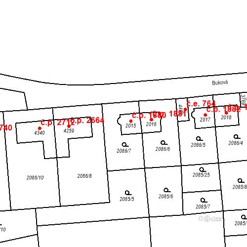 Katastrální mapa Stavební objekt Aš 1880, Aš