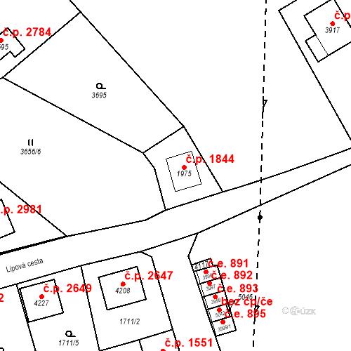 Katastrální mapa Stavební objekt Aš 1844, Aš