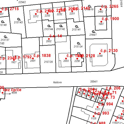 Katastrální mapa Stavební objekt Aš 1840, Aš