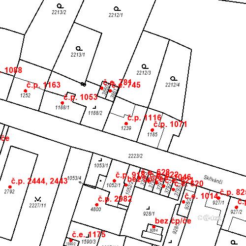 Katastrální mapa Stavební objekt Aš 1116, Aš
