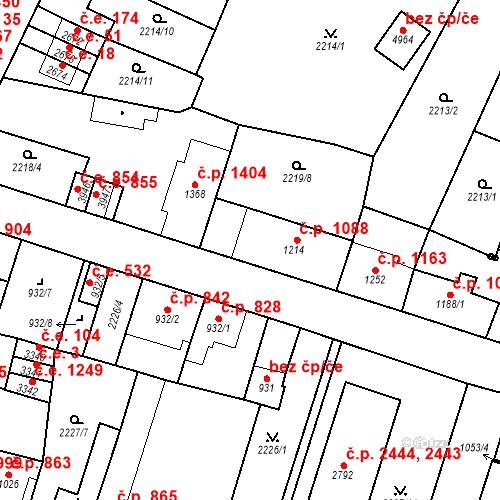 Katastrální mapa Stavební objekt Aš 1088, Aš