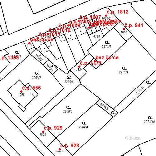 Katastrální mapa Stavební objekt Aš 1175, Aš