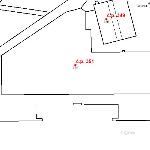 Katastrální mapa Stavební objekt Aš 351, Aš