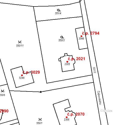 Katastrální mapa Stavební objekt Aš 2021, Aš