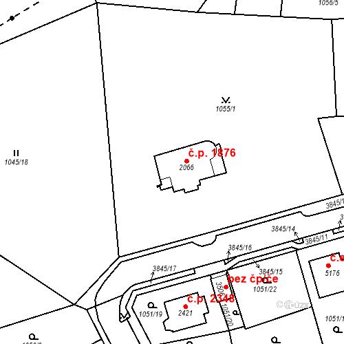 Katastrální mapa Stavební objekt Aš 1876, Aš