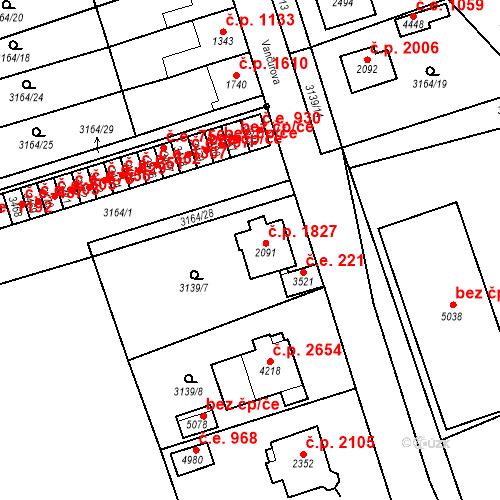 Katastrální mapa Stavební objekt Aš 1827, Aš