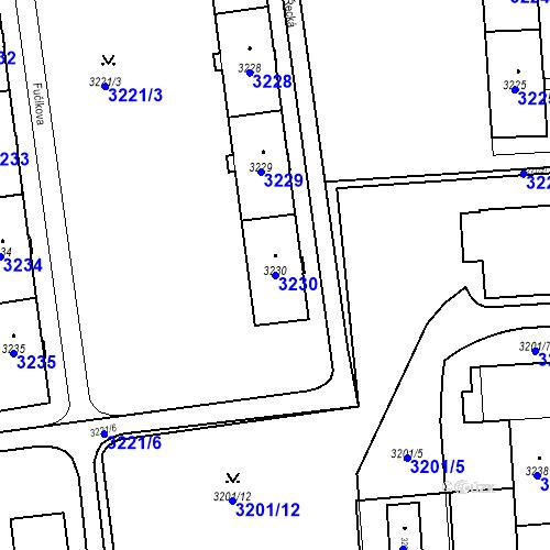 Katastrální mapa Parcela 3230 na katastrálním území Karviná-město