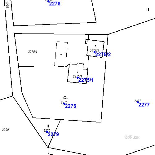 Katastrální mapa Parcela 2275/1 na katastrálním území Albrechtice u Českého Těšína