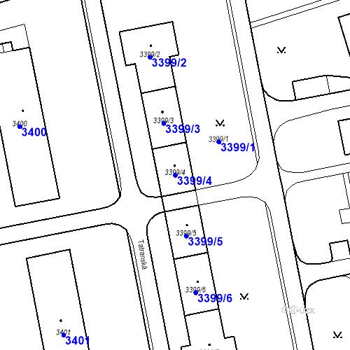 Katastrální mapa Parcela 3399/4 na katastrálním území Karviná-město