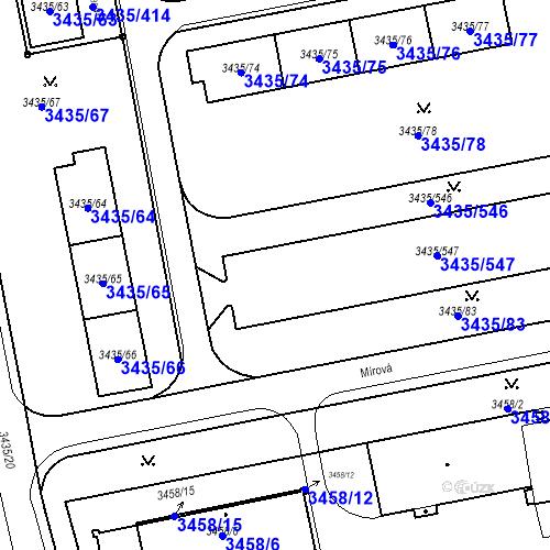 Katastrální mapa Parcela 3435/79 na katastrálním území Karviná-město