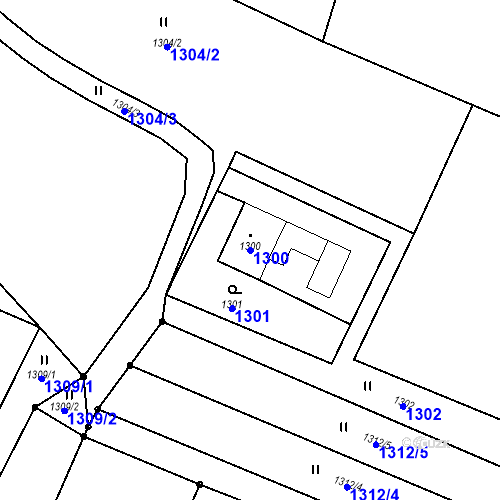 Katastrální mapa Parcela 1300 na katastrálním území Albrechtice u Českého Těšína