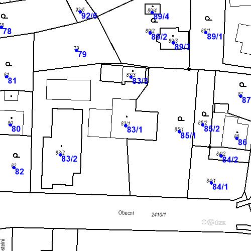 Katastrální mapa Parcela 83/1 na katastrálním území Albrechtice u Českého Těšína