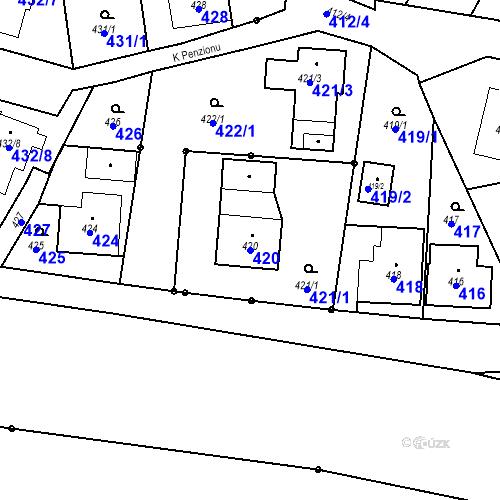 Katastrální mapa Parcela 420 na katastrálním území Dolní Lutyně