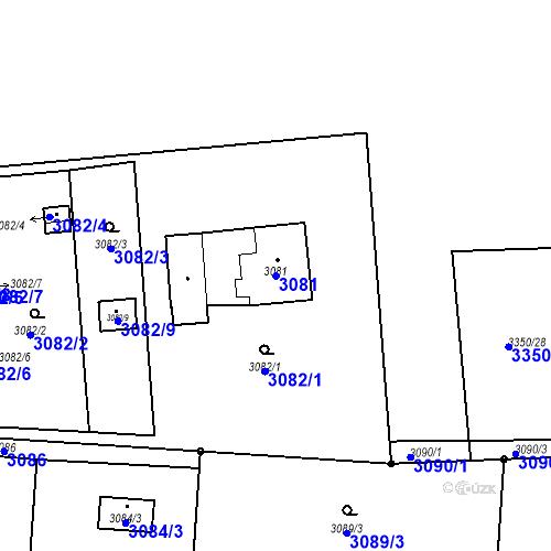 Katastrální mapa Parcela 3081 na katastrálním území Dolní Lutyně