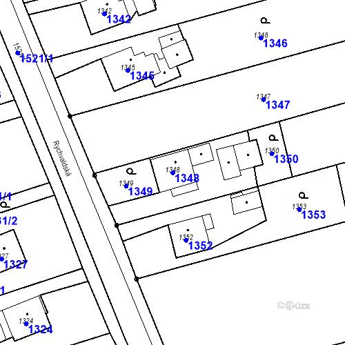 Katastrální mapa Parcela 1348 na katastrálním území Záblatí u Bohumína