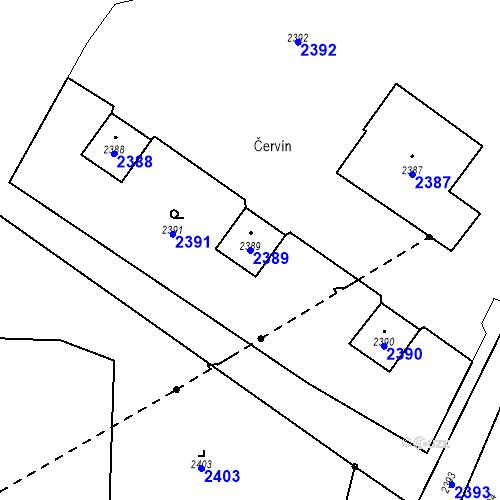 Katastrální mapa Parcela 2389 na katastrálním území Skřečoň