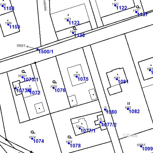 Katastrální mapa Parcela 1075 na katastrálním území Záblatí u Bohumína
