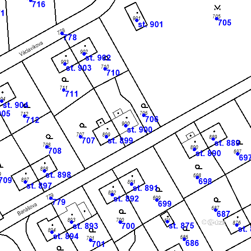 Katastrální mapa Parcela 900 na katastrálním území Heřmanice