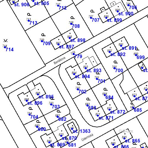 Katastrální mapa Parcela 894 na katastrálním území Heřmanice
