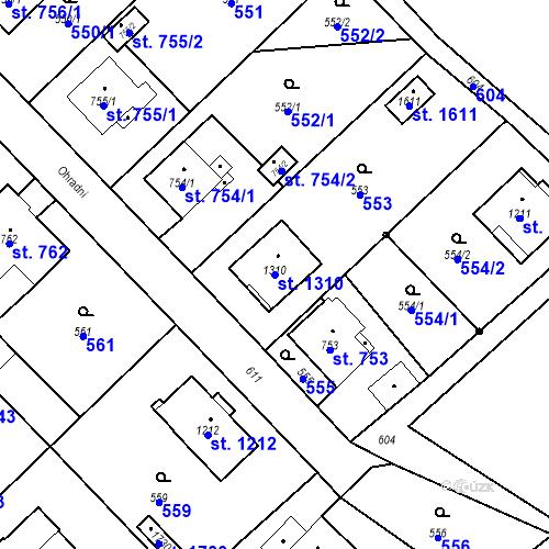 Katastrální mapa Parcela 1310 na katastrálním území Heřmanice