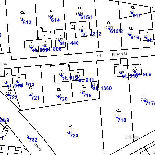 Katastrální mapa Parcela 911 na katastrálním území Heřmanice