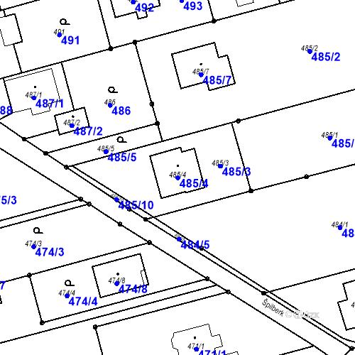 Katastrální mapa Parcela 485/4 na katastrálním území Darkovice