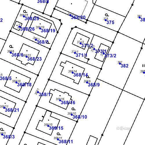 Katastrální mapa Parcela 368/14 na katastrálním území Darkovice