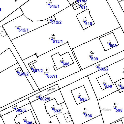 Katastrální mapa Parcela 606 na katastrálním území Smolkov
