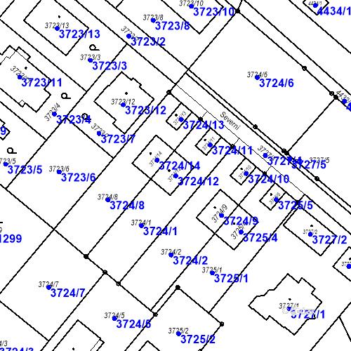 Katastrální mapa Parcela 3724/12 na katastrálním území Kravaře ve Slezsku