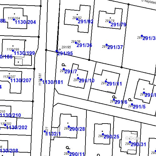 Katastrální mapa Parcela 291/10 na katastrálním území Oldřišov