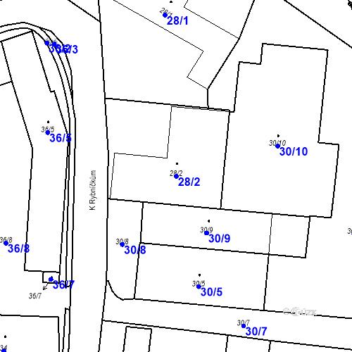 Katastrální mapa Parcela 28/2 na katastrálním území Otice