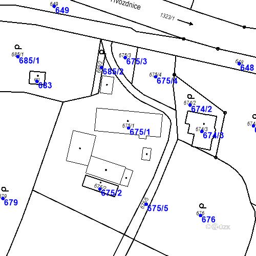 Katastrální mapa Parcela 675 na katastrálním území Dolní Životice