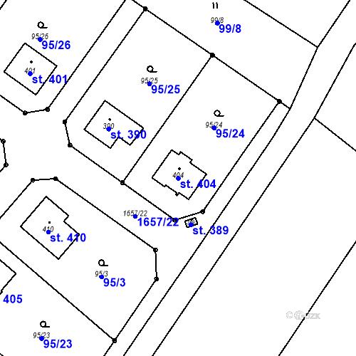 Katastrální mapa Parcela 404 na katastrálním území Opatovice u Hranic