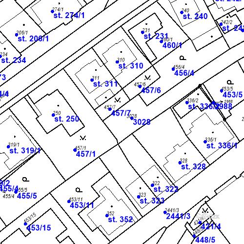 Katastrální mapa Parcela 682 na katastrálním území Luhačovice