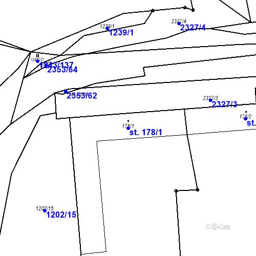 Katastrální mapa Parcela 178/1 na katastrálním území Suchá Loz
