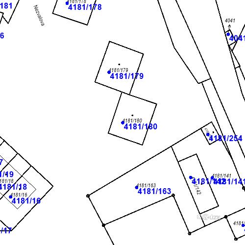 Katastrální mapa Parcela 4181/180 na katastrálním území Bruntál-město