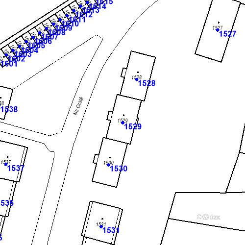 Katastrální mapa Parcela 1529 na katastrálním území Hlubočky