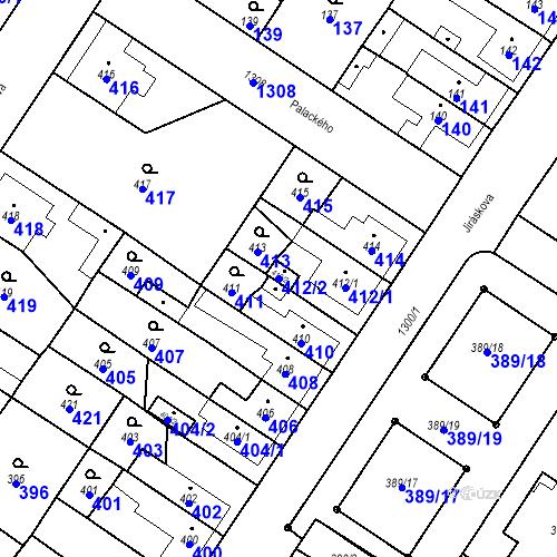 Katastrální mapa Parcela 412/2 na katastrálním území Brodek u Přerova