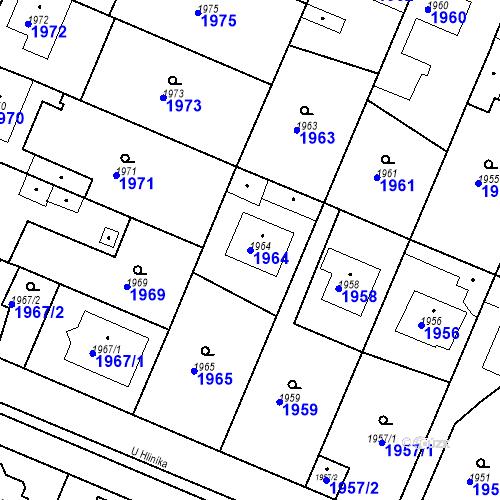 Katastrální mapa Parcela 1964 na katastrálním území Ratíškovice