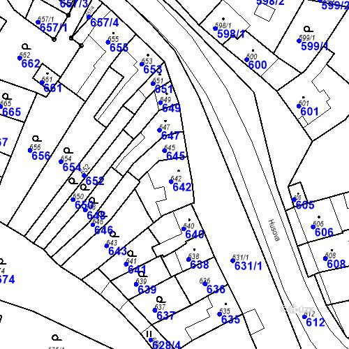 Katastrální mapa Parcela 644 na katastrálním území Brodek u Prostějova