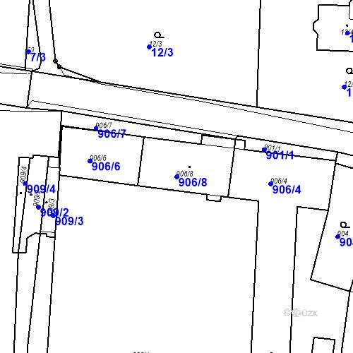 Katastrální mapa Parcela 906/8 na katastrálním území Brodek u Prostějova